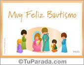 Tarjetas postales: Tarjeta de Bautismo