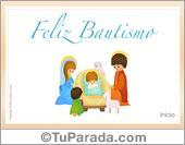 Tarjetas postales: Tarjeta de Bautismo con niño Jesús