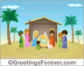 Merry Christmas - Nativity eCard