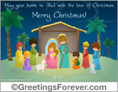 Nativity ecard