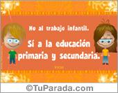 Tarjeta para la educación primaria y secundaria