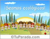Tarjetas, postales: Tarjetas de Ecología