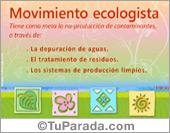 Tarjetas, postales: Tarjeta de movimiento ecologista