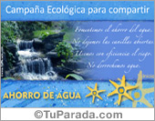 Tarjetas postales: Tarjeta Cuidemos el agua