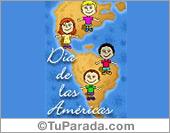 Día de la Diversidad cultural - Tarjetas postales: Día de las Américas