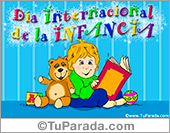 Tarjetas, postales: Día internacional de la infancia.
