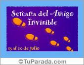 Tarjetas postales: Semana del amigo invisible.