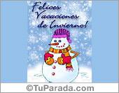 Tarjetas postales: Vacaciones de Invierno.