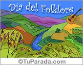 Tarjetas postales: Día del Folklore.