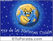 Tarjetas postales: Día de las Naciones Unidas.