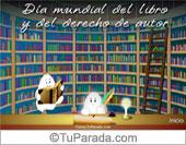 Tarjetas postales: Día mundial del libro y del derecho de autor