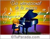 Tarjetas postales: Día internacional de la música