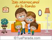 Tarjetas, postales: Día internacional de la familia