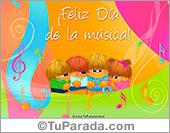 Tarjetas postales: Tarjeta Día de la música