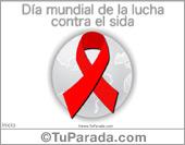 Tarjetas postales: Tarjeta de lucha contra el sida