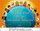 Tarjetas postales: Tarjeta del día universal de los derechos humanos
