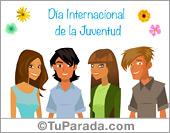 Tarjetas, postales: Día Internacional de la Juventud
