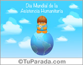 Tarjetas, postales: Día Mundial de la Asistencia Humanitaria
