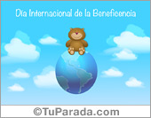 Tarjetas, postales: Día Internacional de la Beneficencia
