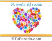 Tarjetas, postales: Día mundial del corazón