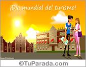 Tarjeta - Día mundial del turismo