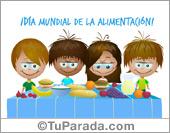 Tarjeta - Día mundial de la alimentación