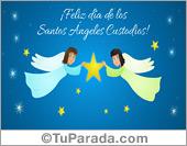 Tarjeta - Día de los Ángeles Custodios