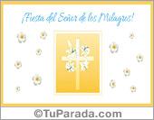Tarjeta - Fiesta del Señor de los Milagros