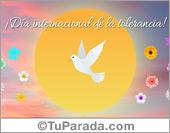 Tarjeta - Día internacional de la tolerancia