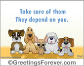 Protection of animals - Greeting ecards: Protection of animals ecard