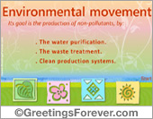Environmental movement ecard