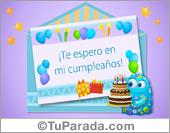 Invitaciones para cumpleaños - Tarjetas postales: Invitación a mi cumpleaños