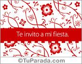 Tarjetas, postales: Invitaciones a fiestas