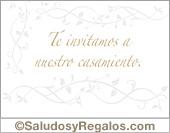 Tarjeta - Tarjeta de invitación de casamiento
