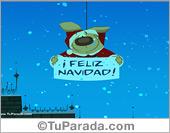 Tarjeta - Tarjeta con mensaje de Papá Noel