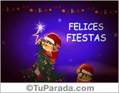 Tarjeta - Felices Fiestas y una cálida Navidad