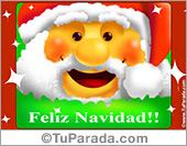 Tarjetas postales: Feliz Navidad con cara de Papá Noel