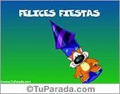 Felices Fiestas con fuego artificial