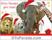 Tarjetas postales: Tarjeta de Navidad desde el zoológico