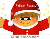 Tarjetas postales: Tarjeta de Gordi Papá Noel