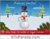 Tarjetas postales: Tarjeta con muñeco de nieve