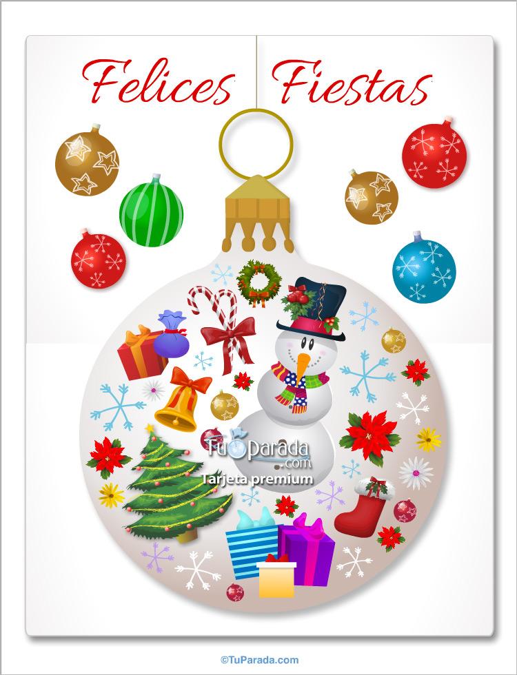 Tarjeta gigante de felices fiestas saludos gigantes tarjetas - Dibujos para postales navidenas ...