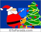 Tarjetas postales: Viene Papá Noel...