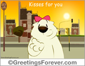 Ecards: Kisses for you