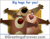 Greeting ecards: Hugs e-card