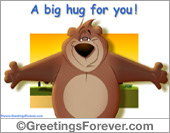 Ecard - A big hug animated ecard