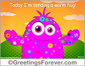 Greeting ecards: A warm hug ecard