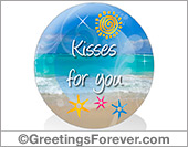 Greeting ecards: Hugs and kisses
