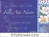 Tarjeta - Feliz año nuevo con flores