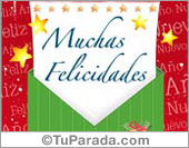 Feliz año nuevo - Tarjetas postales: Tarjeta de fin de año